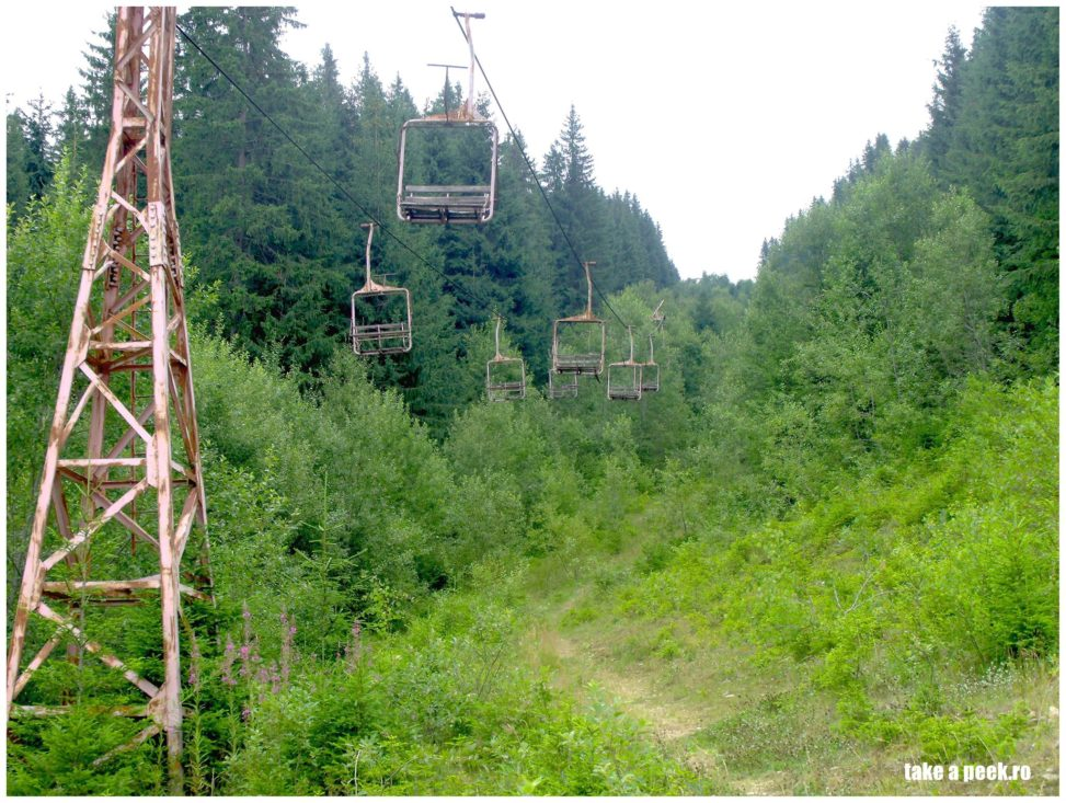 Abandoned chairlift